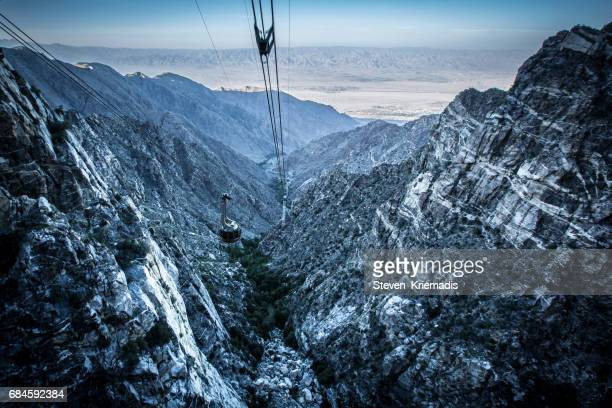 mount san jacinto - palm springs stock-fotos und bilder