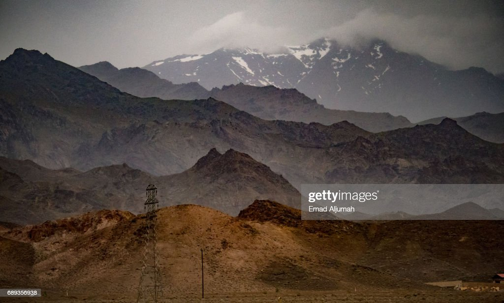 Mount Shahankuh in Isfahan province, Iran - 27 April 2017 : Stock Photo