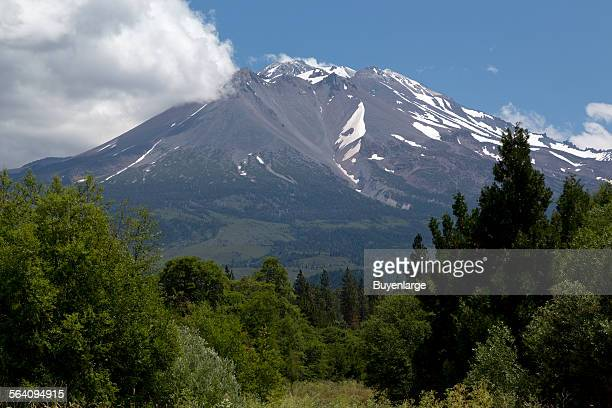 Mount Shasta is located at the southern end of the Cascade Range in Siskiyou County California
