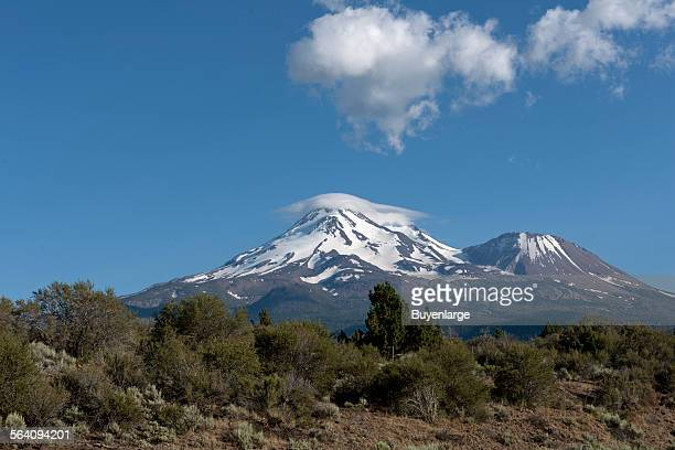 Mount Shasta located at the southern end of the Cascade Range in Siskiyou County, California