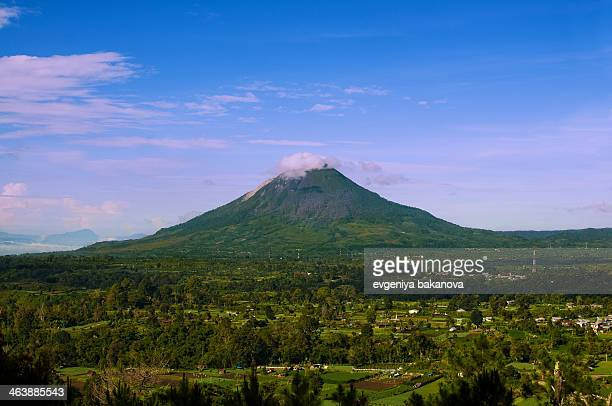 Mount Sinabung is a active stratovolcano in the Karo plateau of Karo Regency, North Sumatra, Indonesia,2012