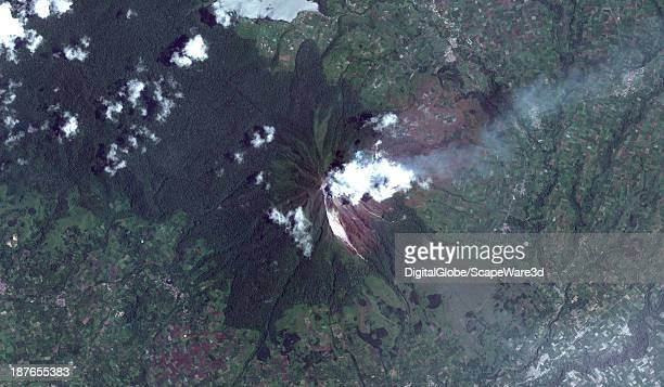 Mount Sinabung is a PleistocenetoHolocene stratovolcano of andesite and dacite in the Karo plateau of Karo Regency North Sumatra Indonesia 25 miles...