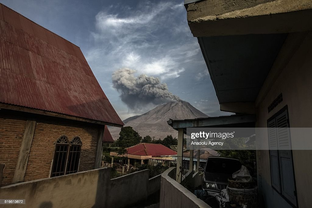 Karo As sinabung volcano eruption in indonesia photos and images getty images