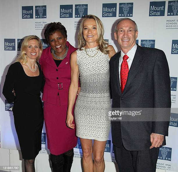 Mount Sinai Chief of Breast Surgery Dr Elisa Port newswoman Pat Battle Dr Eva AnderssonDubin and Mount Sinai Chairman of the Board of Trustees Peter...
