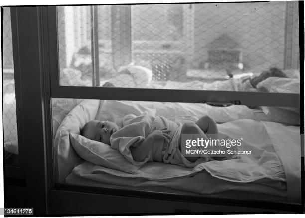 Mount Sinai Hospital Children's Ward Infant in cubicle Mount Sinai Hospital