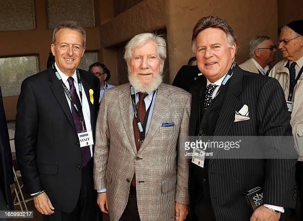 Mount Sinai Memorial Parks and Mortuaries General Manager Len Lawrence Chairman of the Cemetary Management Committee of Sinai Temple Milo Mandel and...