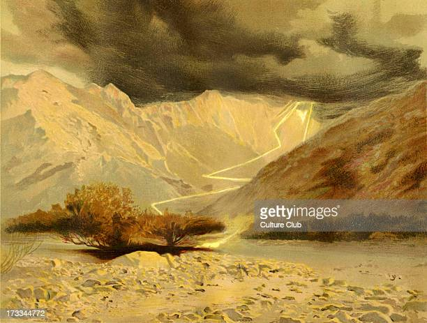 Mount Sinai/ Mount Moses/ Mount Horeb the mountain at which the Ten Commandments were given to Moses by God Illustration by Philip R Morris