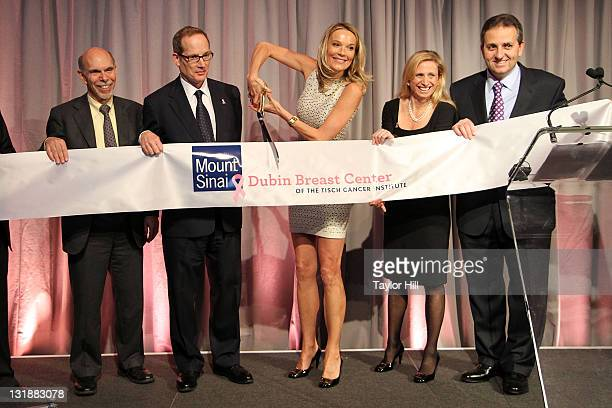Mount Sinai President and CEO Kenneth L Davis philanthopist Glenn R Dubin and doctors Eva AnderssonDubin Elisa Port and George Raptis cut the ribbon...