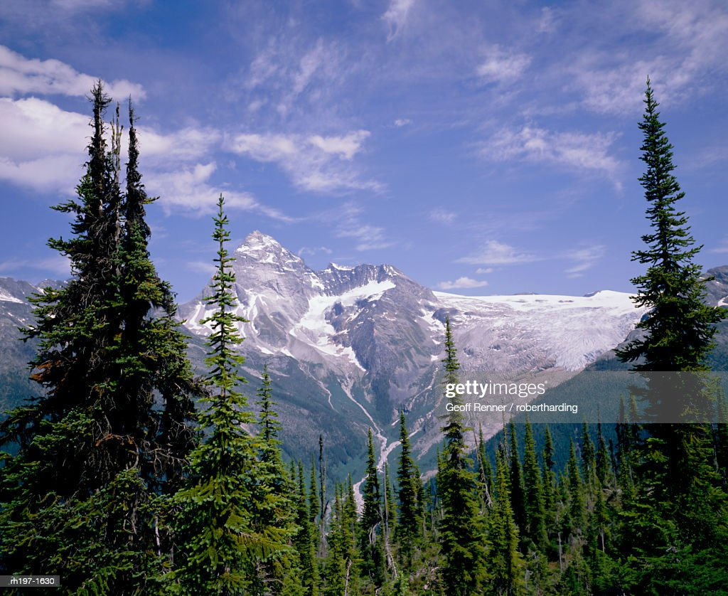 Mount Sir Donald, Glacier National Park, Rocky Mountains, British Columbia B.C., Canada, North America : Foto de stock