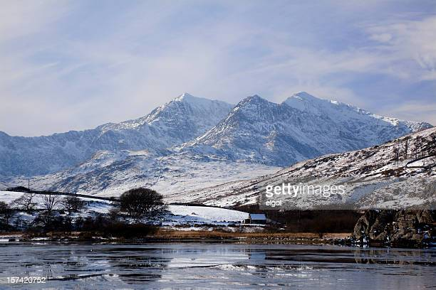 Mount Snowdon in Winter from Capel Curig