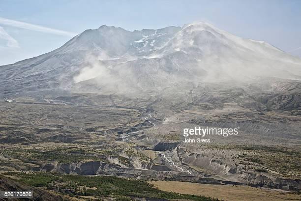 Mount St. Helens can be seen from Johnston Ridge Observatory near Toutle, Washington, September 8, 2012.