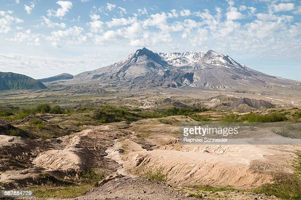 Mount St. Helens crater seen from North