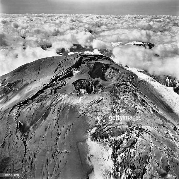 Mount St Helens prior to its violent eruption on May 18 1980 Often referred to as the ice cream cone in the sky becuase of its perfect cone top the...