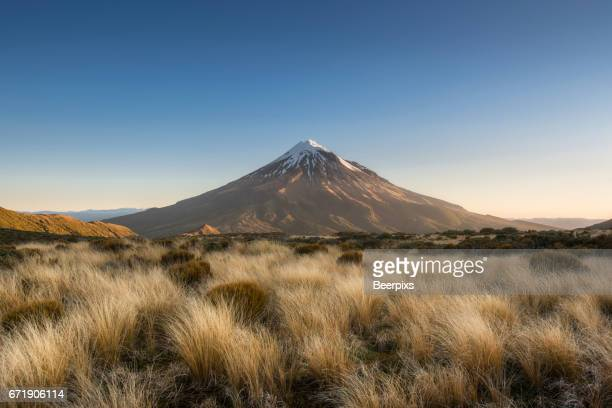 Mount Taranaki a dormant volcano in New Zealand.