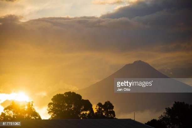 Mount Taranaki on North island, New Zealand