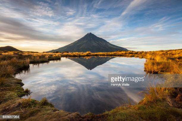 mount taranaki - new zealand volcano stock photos and pictures