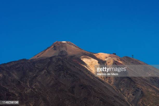 Mount Teide, a volcano of 3,718m is the highest point in Spain, located in Teide National Park, Canary Islands.
