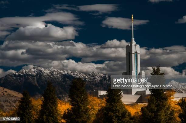 Mount Timpanogos Mormon Temple Autumn