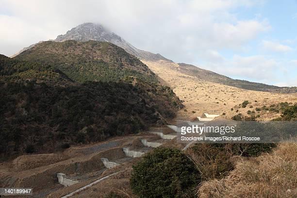mount unzen volcano, japan. - volcanic activity stock pictures, royalty-free photos & images