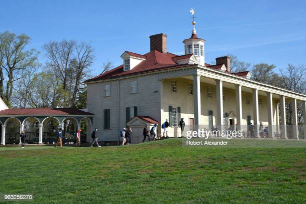 Mount Vernon the plantation house of George Washington the first President of the United States is situated on the banks of the Potomac River in...