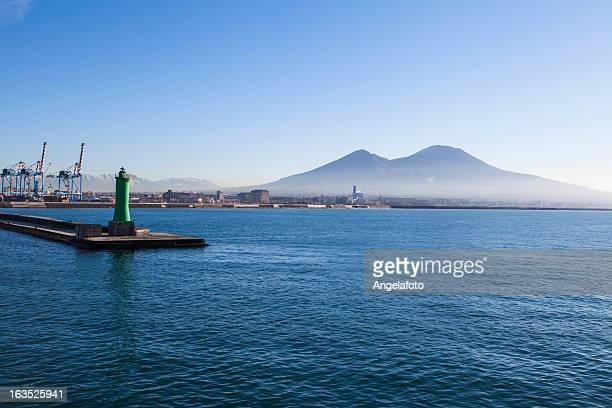 Mount Vesuvius and harbor, Bay of Naples