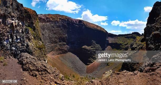 mount vesuvius caldera - caldera stock pictures, royalty-free photos & images