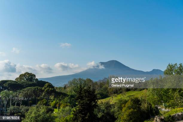 mount vesuvius in campania (italy) on a sunny day - mt vesuvius stock pictures, royalty-free photos & images