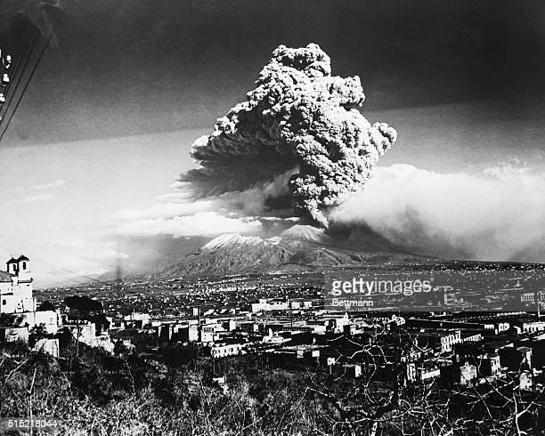 Mount Vesuvius lets go with one of its worst eruptions in 72 years spreading volcanic ash on Naples and nearby towns nestled along its flanks