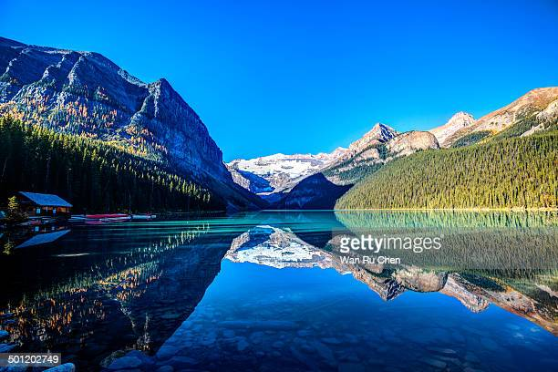 Mount Victoria Glacier Reflection on Lake Louise, Banff National Park, Canada