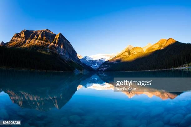 Mount Victoria Glacier Reflection on Lake Louise, Banff National Park, Canada