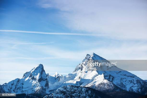 mount watzmann (berchtesgadener land, bavaria/ germany) - european alps stock photos and pictures