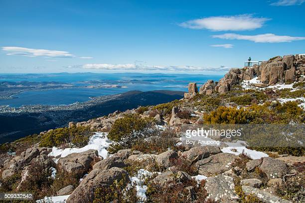 Mount Wellington of Hobart city, Tasmania, Australia.