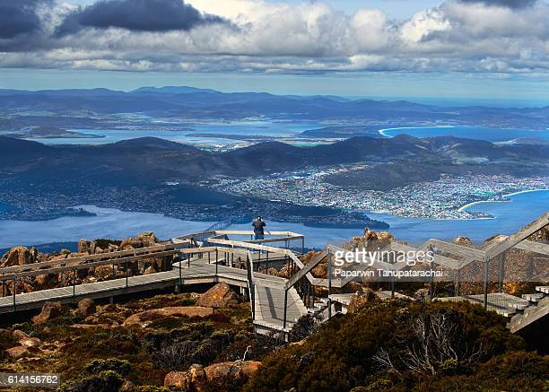 mount wellington, tasmania - hobart tasmania stock pictures, royalty-free photos & images