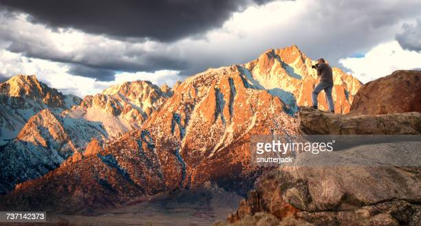 Mount Whitney and Sierra Nevada mountains, California, America, USA