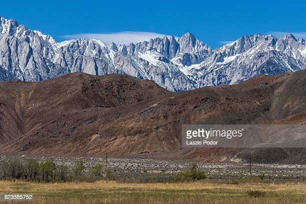 mount whitney - alabama hills stock photos and pictures