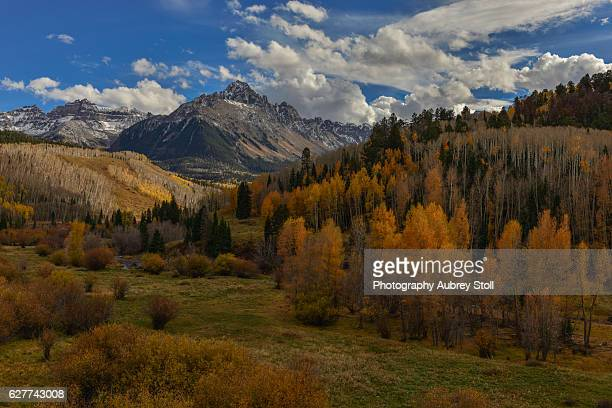 mount wilson in autumn - mt wilson colorado stock photos and pictures