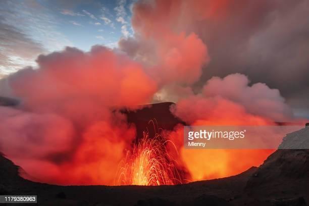 mount yasur tanna island vanuatu volcano eruption - active volcano stock pictures, royalty-free photos & images