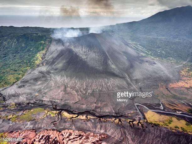 Mount Yasur Volcano Aerial View Tanna Island Vanuatu