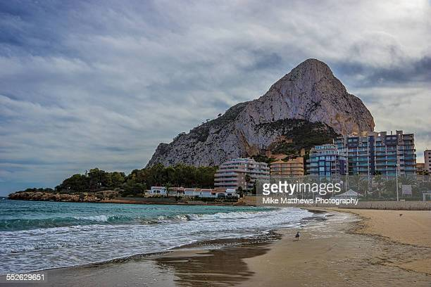 mountain and beach - calpe stock pictures, royalty-free photos & images