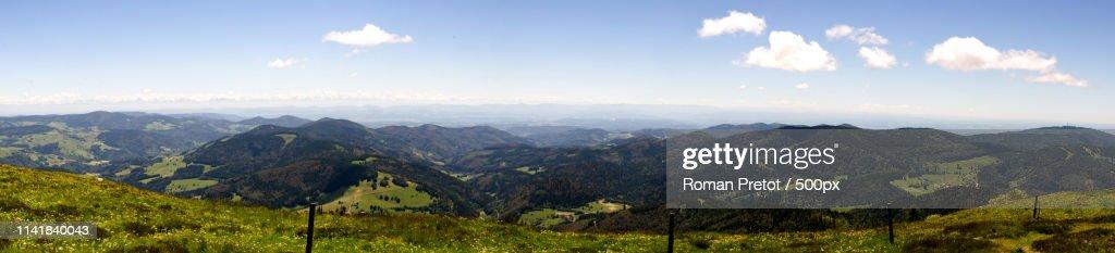 Mountain and blue sky panorama : Stock-Foto
