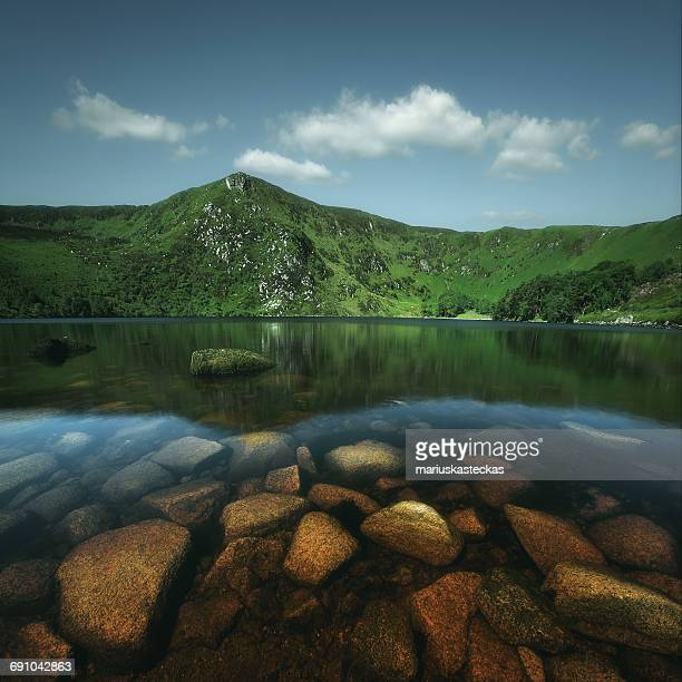Mountain and lake landscape, Wicklow, Ireland