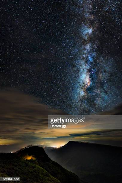 Mountain and Milky Way at Thailand