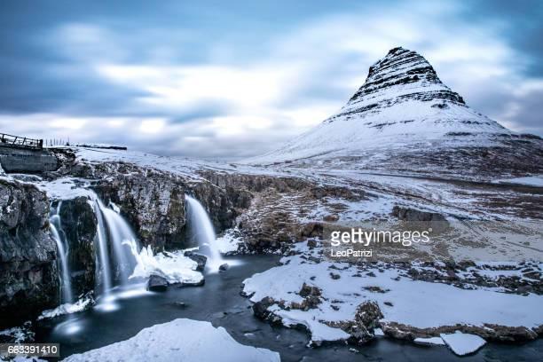 Mountain and waterfalls - Mount Kirkjufell Iceland