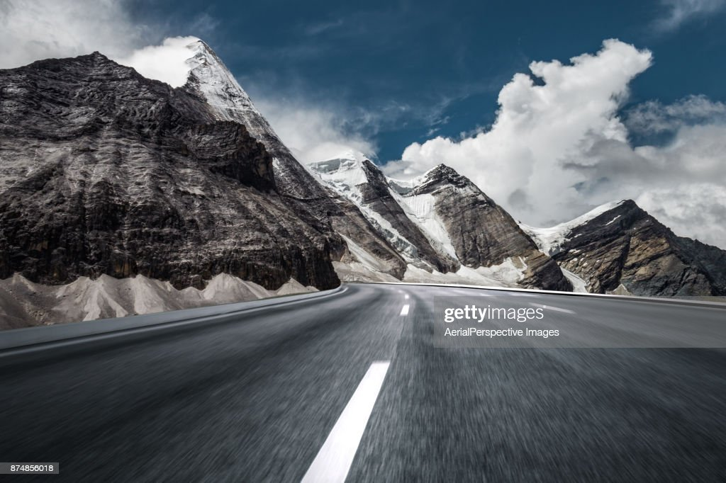 Mountain Asphalt Road : Stock Photo