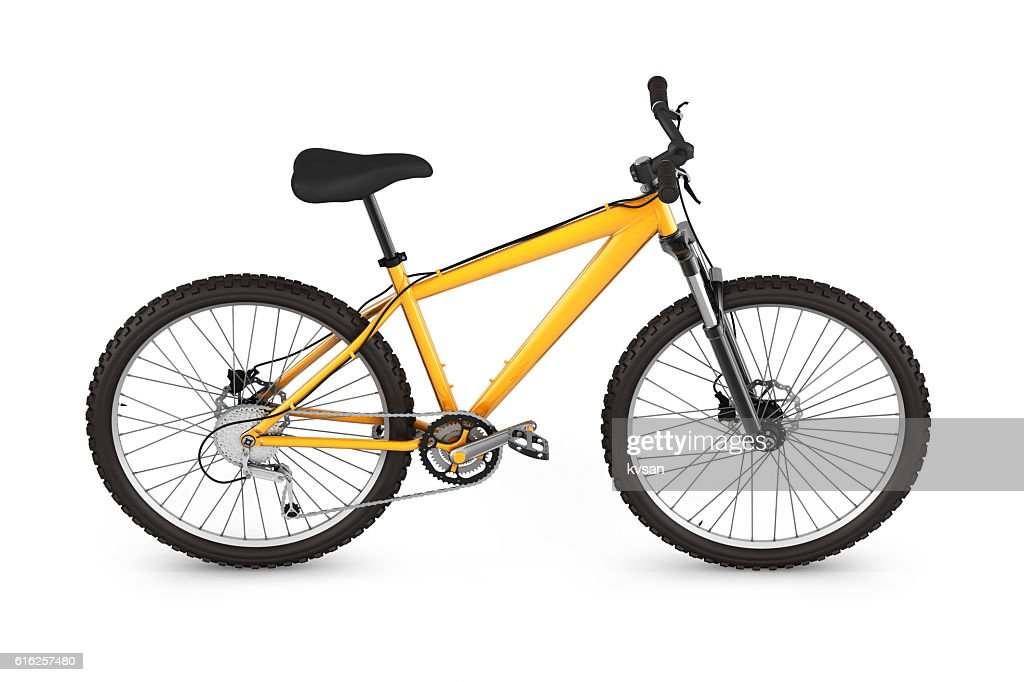 mountain bike isolated on white background 3d render : Foto de stock