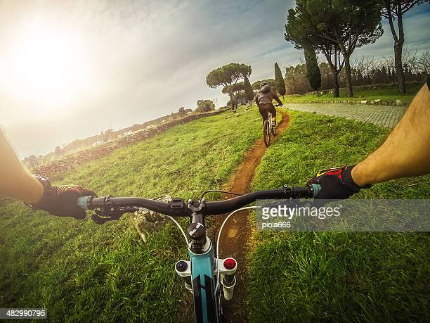 Mountain Bike on the Via Appia Antica and Aqueduct