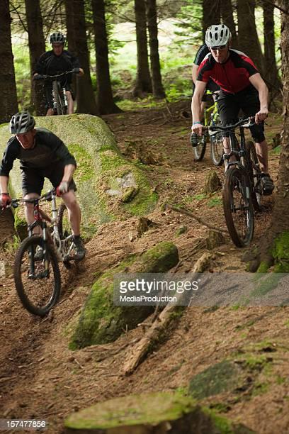 mountain bike race - radsport wettbewerb stock-fotos und bilder