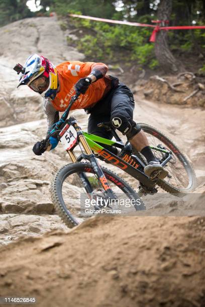 mountain bike racer helmet camera - camera icon stock pictures, royalty-free photos & images