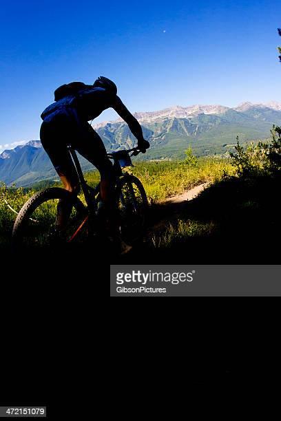 coureur de vélo de montagne - combat sport photos et images de collection
