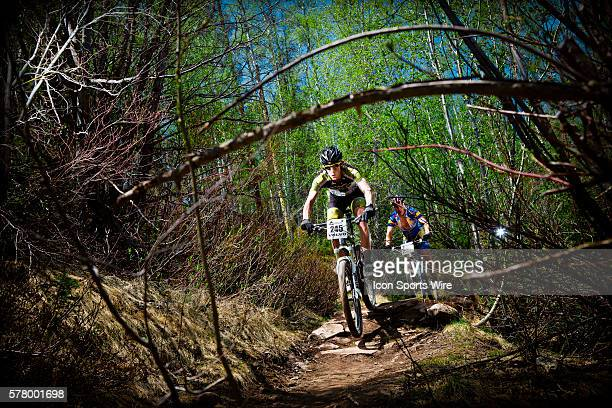 PM Mountain bike racers Michael Shea of Basalt Co and Casey Roberts of Durango Co race in the Expert Men's race at the 10th Annual Teva Mountain...